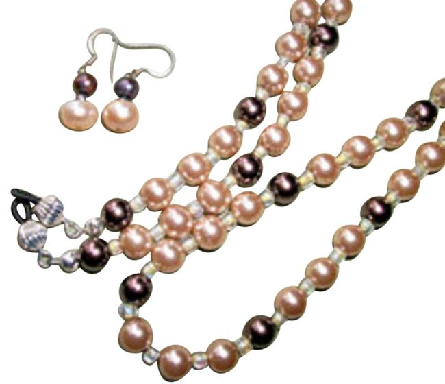 Item - Champagne+ Chocolate Pearls Women's Glasses Holder Lanyard. Necklace