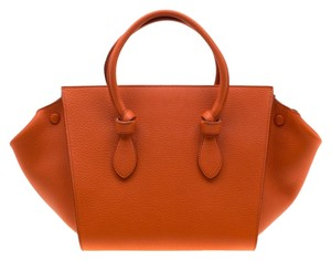 Céline Leather Suede Tote in Orange