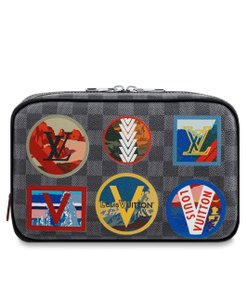 Louis Vuitton Toiletry Bag Men Damier Leather Alps Print Limited Edition
