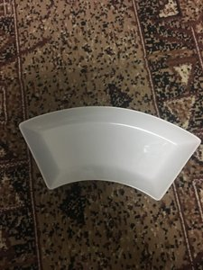 CB2 White Modern Serving Plate Casual China