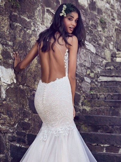 Preload https://img-static.tradesy.com/item/25652678/maggie-sottero-ivory-over-antique-ivory-lace-and-tulle-8mc564-adaleine-vintage-wedding-dress-size-8-0-0-540-540.jpg
