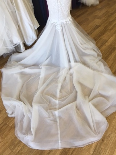 Maggie Sottero Ivory Over Antique Ivory Lace and Tulle 8mc564 Adaleine Vintage Wedding Dress Size 8 (M) Image 5