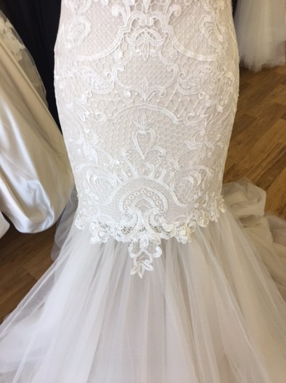 Maggie Sottero Ivory Over Antique Ivory Lace and Tulle 8mc564 Adaleine Vintage Wedding Dress Size 8 (M) Image 6