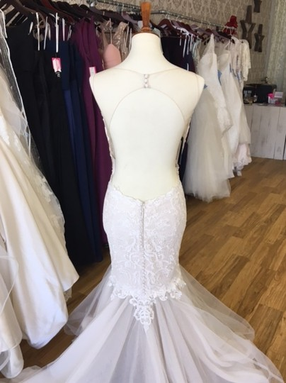 Maggie Sottero Ivory Over Antique Ivory Lace and Tulle 8mc564 Adaleine Vintage Wedding Dress Size 8 (M) Image 7