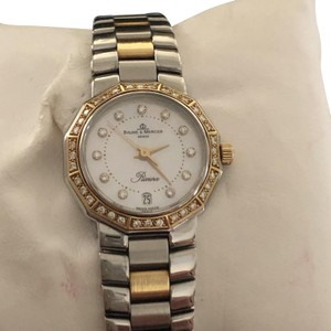 Baume & Mercier Ladies Baume & Mercier Riviera Steel & 18 K Gold Watch