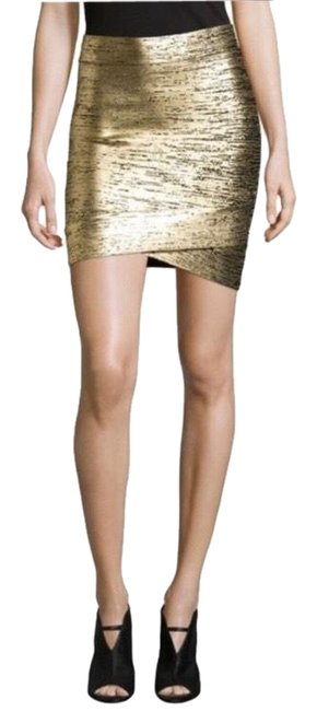 Item - Gold Silvie Metallic Bandage Skirt Size 2 (XS, 26)