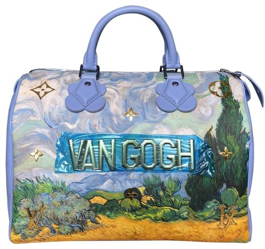 Preload https://img-static.tradesy.com/item/25653121/louis-vuitton-speedy-koons-masters-van-gogh-30-light-blue-with-greengold-colored-canvas-cowhide-acce-0-3-540-540.jpg