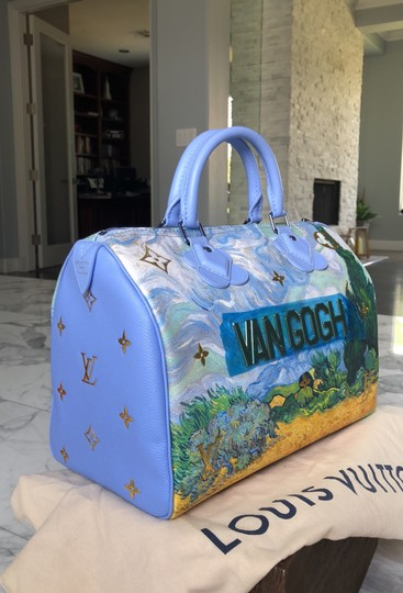 Louis Vuitton Satchel in Light blue and green, gold Image 1
