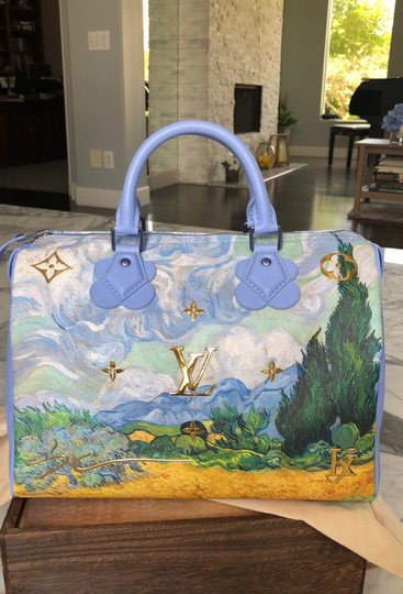 Louis Vuitton Satchel in Light blue and green, gold Image 3