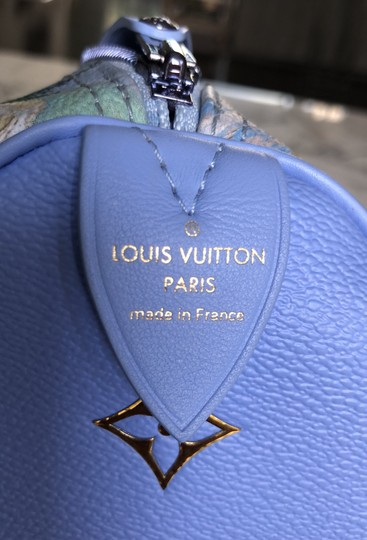 Louis Vuitton Satchel in Light blue and green, gold Image 5