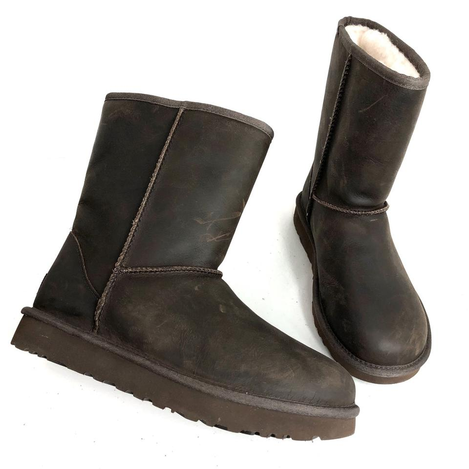 2321316e163 UGG Australia Brown Classic Short Leather Boots/Booties Size US 9 Regular  (M, B) 31% off retail