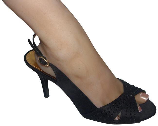Item - Black Slingback Heels Pumps Size US 8 Regular (M, B)