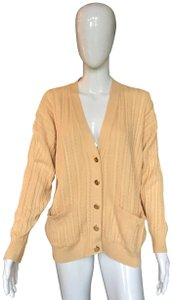 Burberry Cable Knit Cotton Cardigan