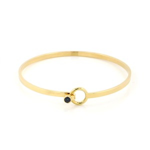 Tiffany & Co. Sapphire 18k Yellow Gold Hook & Eye Bangle