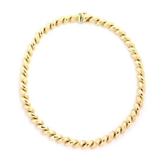 Other San Marco Italy 14k Yellow Gold Macaroni Link Necklace Image 4