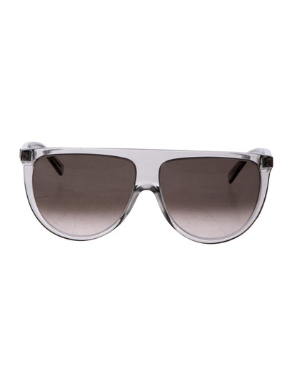 Preload https://img-static.tradesy.com/item/25654542/celine-transparent-gray-new-41435s-0rdn-thin-shadow-clear-oversized-sunglasses-0-0-540-540.jpg