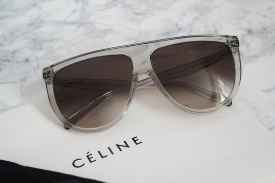 Céline NEW Celine Sunglasses 41435/S 0RDN Thin Shadow Clear Oversized Image 1