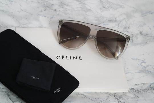 Céline NEW Celine Sunglasses 41435/S 0RDN Thin Shadow Clear Oversized Image 2