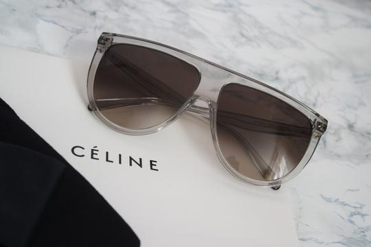 Céline NEW Celine Sunglasses 41435/S 0RDN Thin Shadow Clear Oversized Image 5