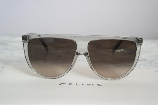Céline NEW Celine Sunglasses 41435/S 0RDN Thin Shadow Clear Oversized Image 8