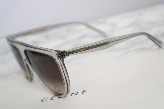 Céline NEW Celine Sunglasses 41435/S 0RDN Thin Shadow Clear Oversized Image 9