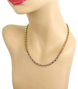 BVLGARI 18k Yellow Gold Fancy Link Chain Necklace