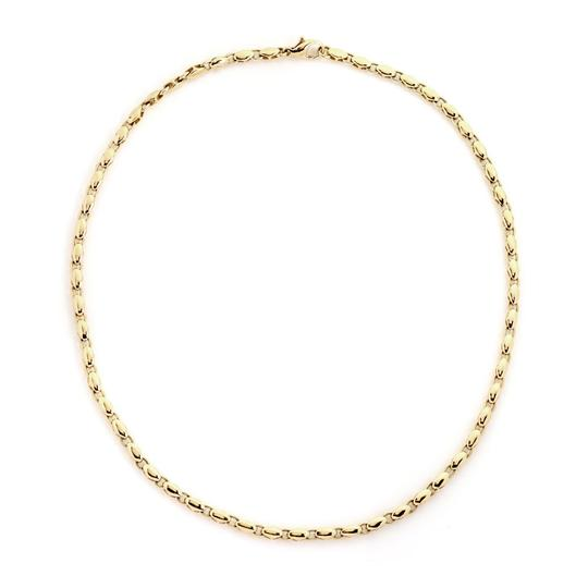 BVLGARI 18k Yellow Gold Fancy Link Chain Necklace Image 1