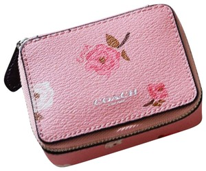 Coach COACH NEW TRIPLE PILL BOX PINK PEONY 3 VIAL
