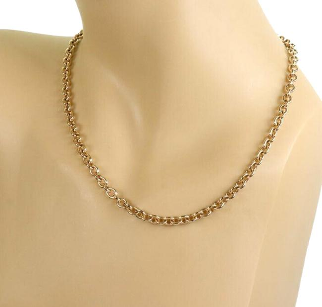 Item - #23790 Oval & Round Link 18k Yellow Gold 5mm Chain Necklace