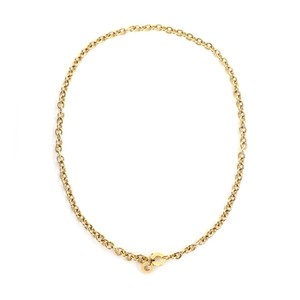 BVLGARI Oval & Round Link 18k Yellow Gold Chain Engraved Clasp