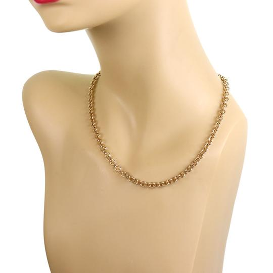 BVLGARI Oval & Round Link 18k Yellow Gold Chain Engraved Clasp Image 1