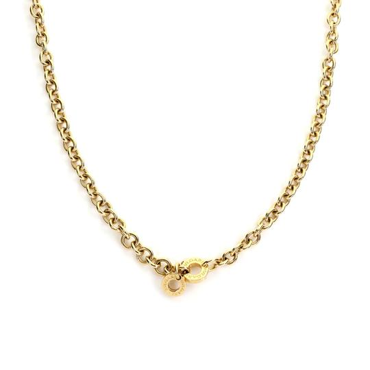 BVLGARI Oval & Round Link 18k Yellow Gold Chain Engraved Clasp Image 2