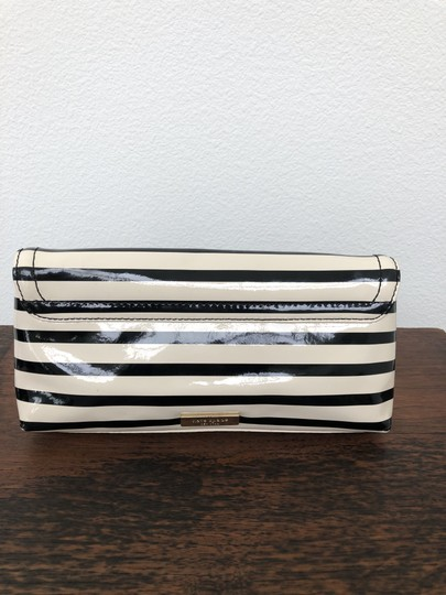 Kate Spade Stripes Wallet Vintage Black and Off White Clutch Image 6