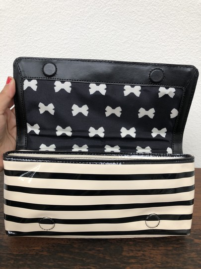 Kate Spade Stripes Wallet Vintage Black and Off White Clutch Image 7