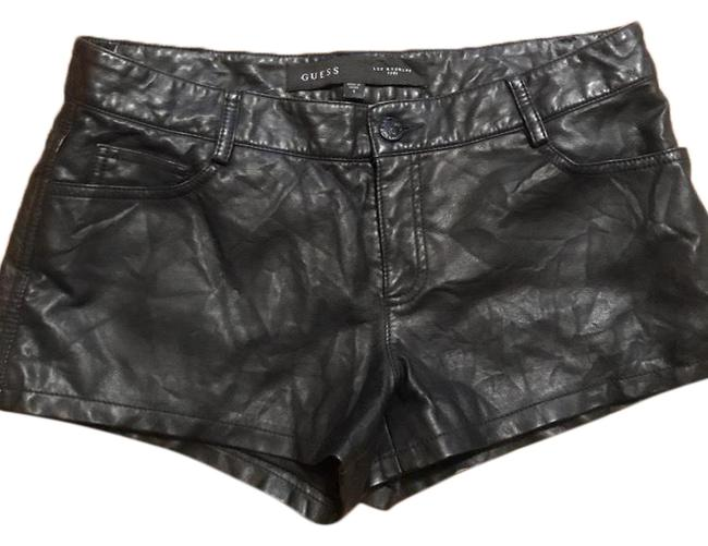 Preload https://img-static.tradesy.com/item/25654622/guess-black-faux-leather-moto-shorts-size-4-s-27-0-1-650-650.jpg
