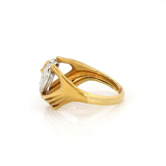 Carrera y Carrera Diamond 18k Two Tone Gold Heart Butterfly Hand Ring Image 1
