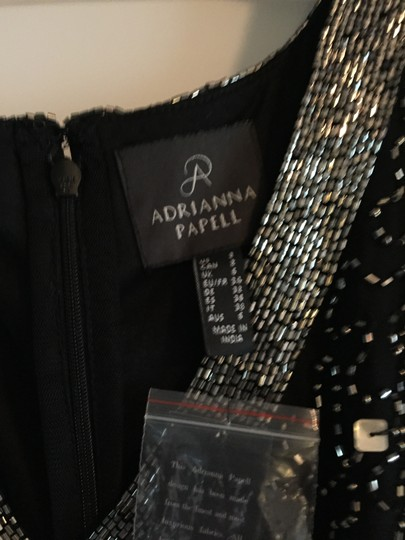 Adrianna Papell Black Beaded Ap1e204273 Formal Bridesmaid/Mob Dress Size 2 (XS) Image 3