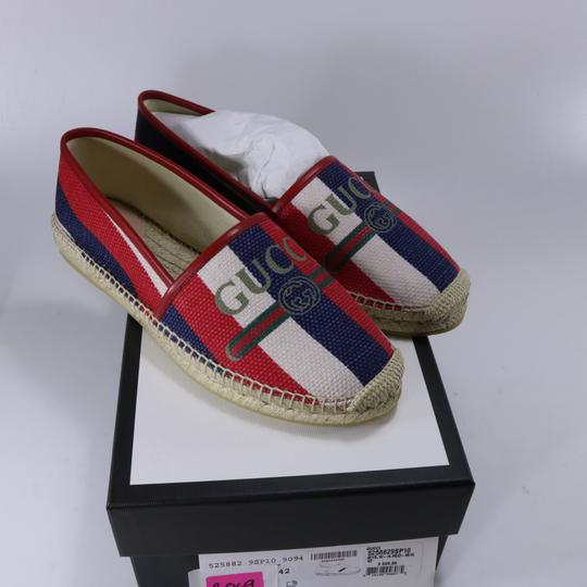Gucci Red White Blue Espadrilles Canvas Espadrilles Nautical multicolor Flats Image 1