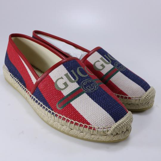 Gucci Red White Blue Espadrilles Canvas Espadrilles Nautical multicolor Flats Image 2
