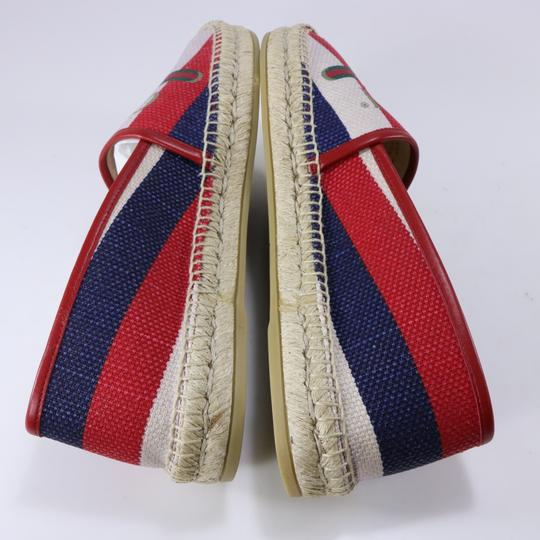 Gucci Red White Blue Espadrilles Canvas Espadrilles Nautical multicolor Flats Image 4