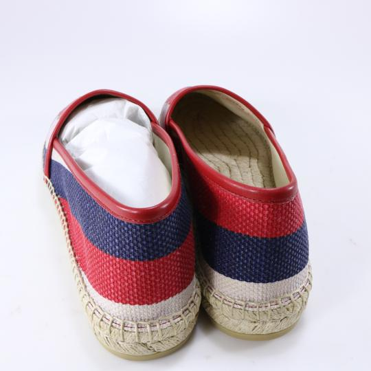 Gucci Red White Blue Espadrilles Canvas Espadrilles Nautical multicolor Flats Image 7