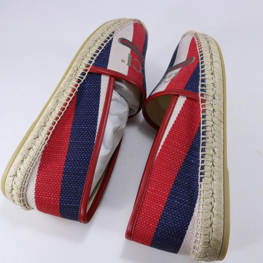 Gucci Red White Blue Espadrilles Canvas Espadrilles Nautical multicolor Flats Image 9