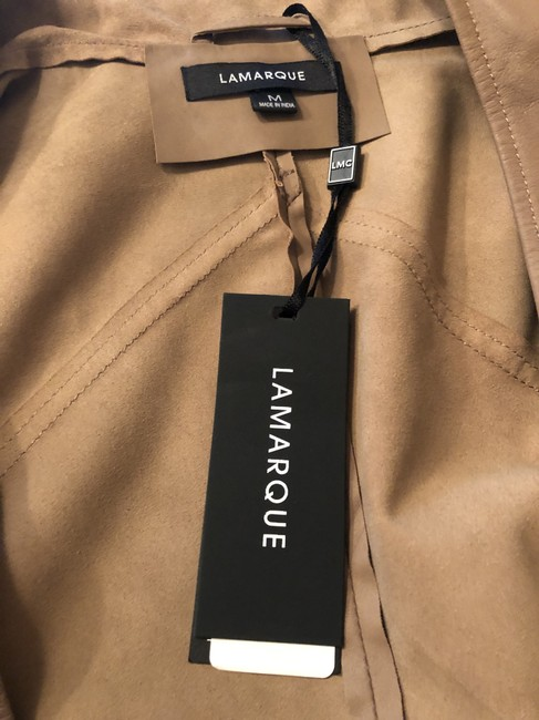 LAMARQUE Latte Leather Jacket Image 2
