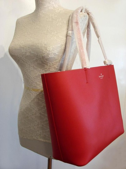 Kate Spade Tote in Hot Chili/Natural Image 1