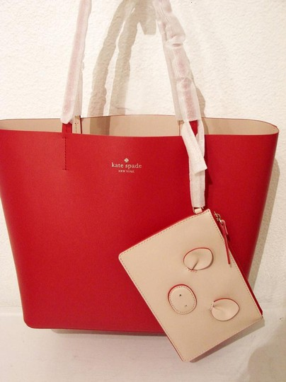 Kate Spade Tote in Hot Chili/Natural Image 2