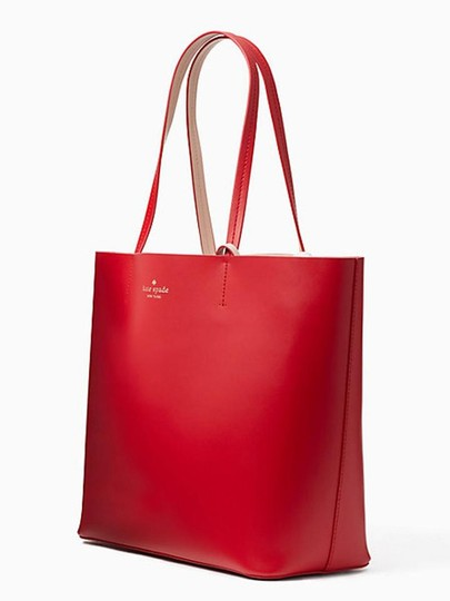 Kate Spade Tote in Hot Chili/Natural Image 3