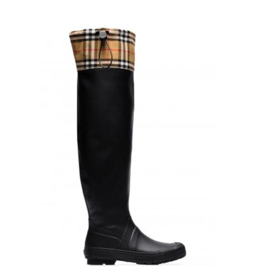 Preload https://img-static.tradesy.com/item/25654779/burberry-black-gr-new-vintage-check-and-rubber-knee-high-rain-10-bootsbooties-size-eu-40-approx-us-1-0-0-540-540.jpg