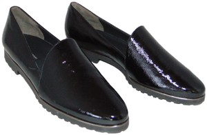 Paul Green Loafer Black Textured Patent Flats