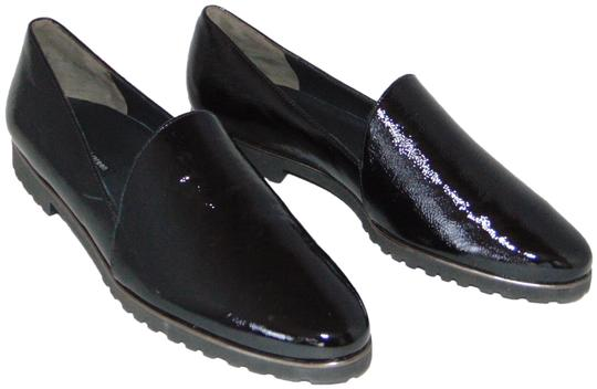 Paul Green Loafer Black Textured Patent Flats Image 0