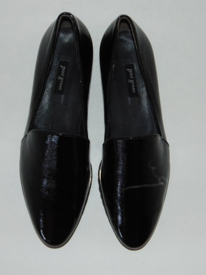 Paul Green Loafer Black Textured Patent Flats Image 3